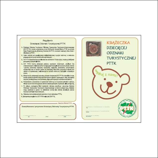 Książeczka Dziecięcej Odznaki Turystycznej PTTK